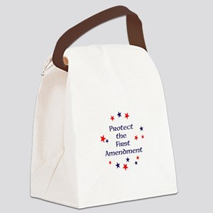 Protect the First Amendment Canvas Lunch Bag