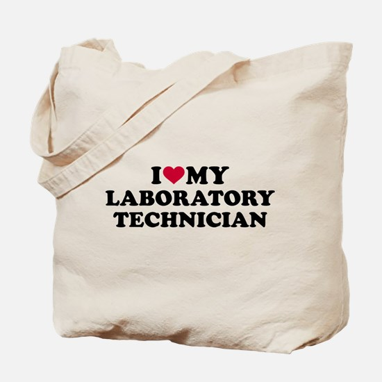 I love my laboratory technician Tote Bag