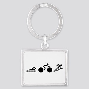 Triathlon Icons Landscape Keychain