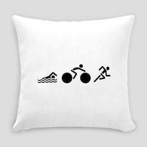 Triathlon Icons Everyday Pillow
