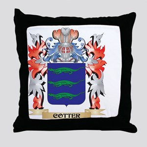 Cotter Coat of Arms - Family Crest Throw Pillow
