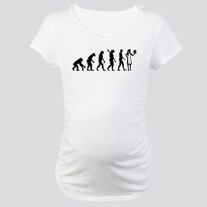 Evolution pastry chef Maternity T-Shirt