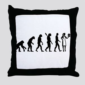 Evolution pastry chef Throw Pillow