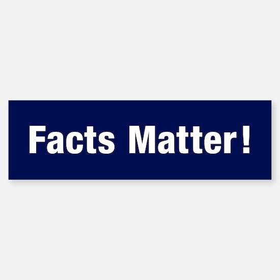 Facts Matter Bumper Car Car Sticker