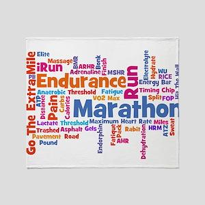 Marathon Womens Throw Blanket