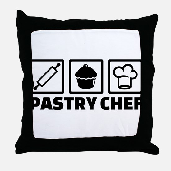 Pastry chef Throw Pillow