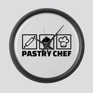 Pastry chef Large Wall Clock