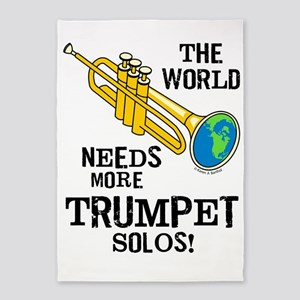 Trumpet Solos 5'x7'Area Rug