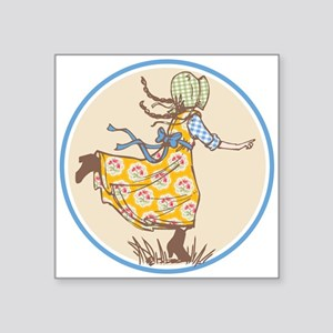 "Laura Ingalls Square Sticker 3"" X 3"""