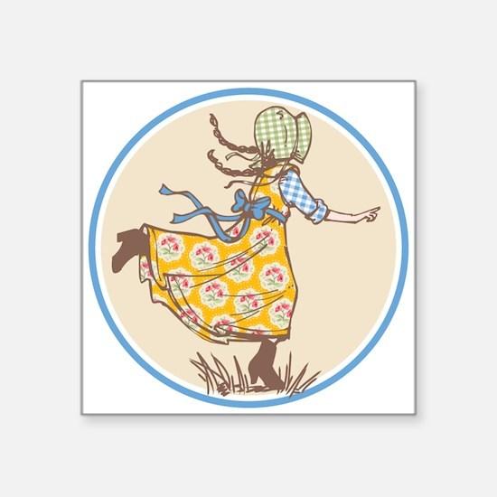 """Laura Ingalls Square Sticker 3"""" X 3"""""""