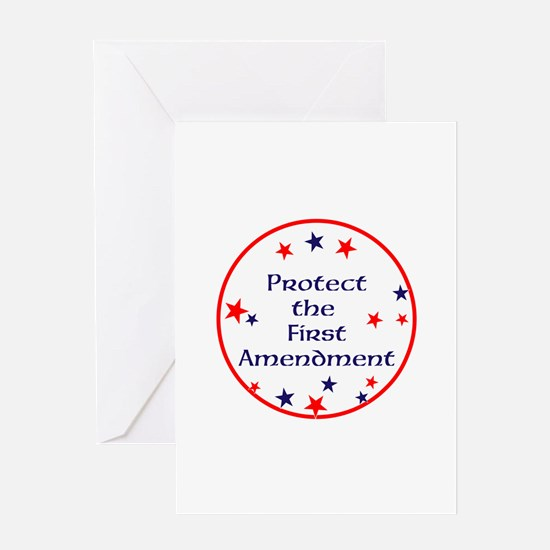 America,Protect the First Amendment, Greeting Card