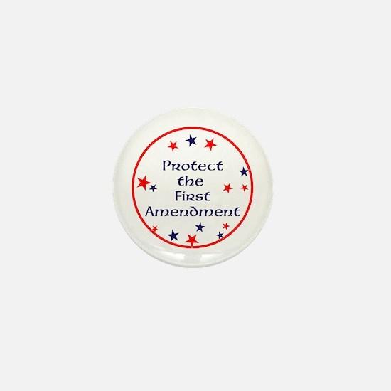 America,Protect the First Amendment, Mini Button
