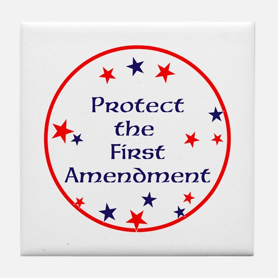 America,Protect the First Amendment, Tile Coaster