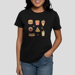 Cute Happy Junk Food Doodles T-Shirt
