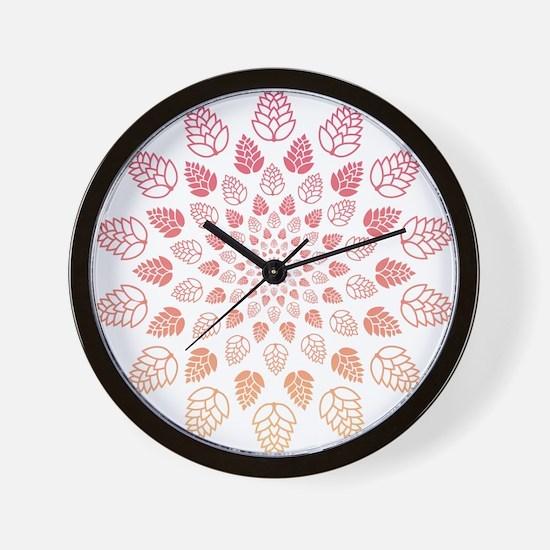Beer Hop Mandala Wall Clock