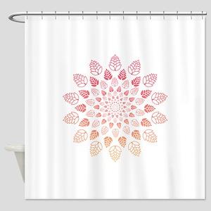 Beer Hop Mandala Shower Curtain