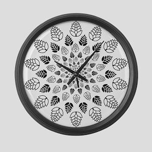 Hop Mandala Large Wall Clock