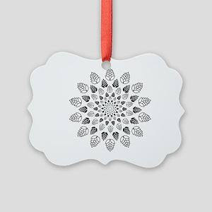 Hop Mandala Picture Ornament
