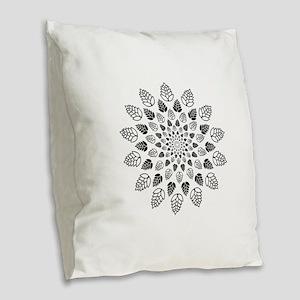 Hop Mandala Burlap Throw Pillow