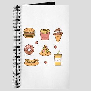 Cute Happy Junk Food Doodles Journal