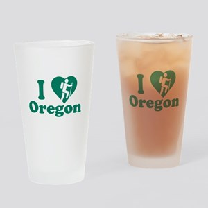 Love Hiking Oregon Drinking Glass