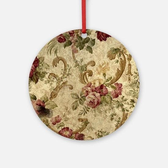 Old Fashioned Flower Design Round Ornament