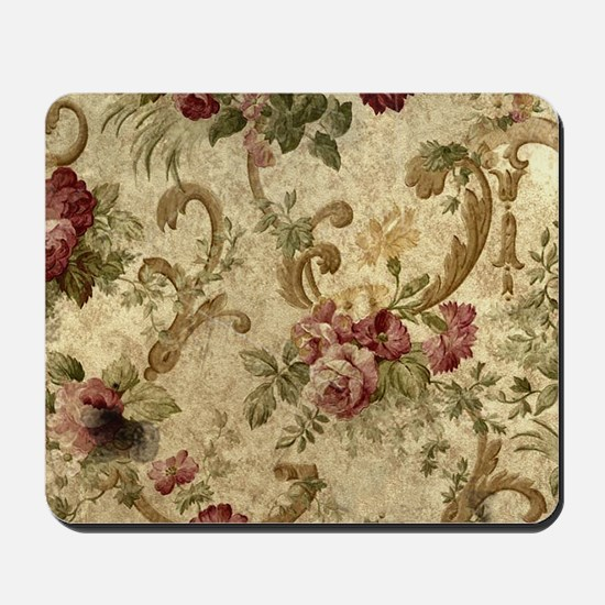 Old Fashioned Flower Design Mousepad