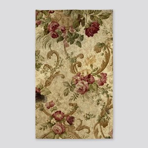 Old Fashioned Flower Design Area Rug