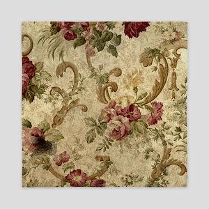 Old Fashioned Flower Design Queen Duvet