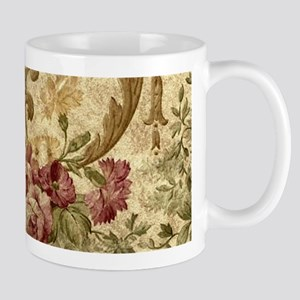 Old Fashioned Flower Design Mugs