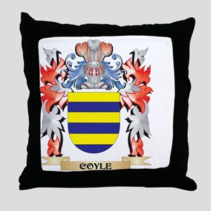 Coyle Coat of Arms - Family Crest Throw Pillow