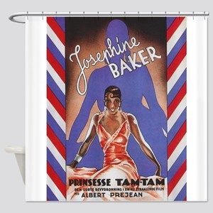 Josephine Baker Vintage Poster Shower Curtain