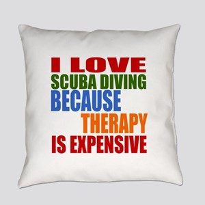 I Love Scuba Diving Because Therap Everyday Pillow