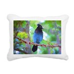 Steller's Jay Rectangular Canvas Pillow