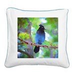 Steller's Jay Square Canvas Pillow