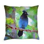 Steller's Jay Everyday Pillow