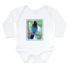 Steller's Jay Long Sleeve Infant Bodysuit