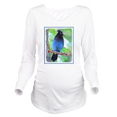 Steller's Jay Long Sleeve Maternity T-Shirt