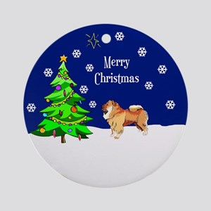 Chow Chow Merry Christmas Ornament (Round)