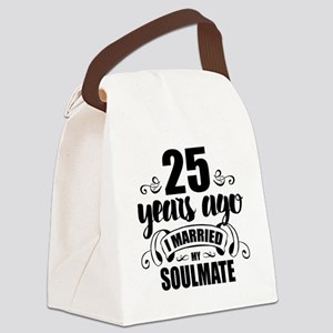 25th Anniversary Canvas Lunch Bag