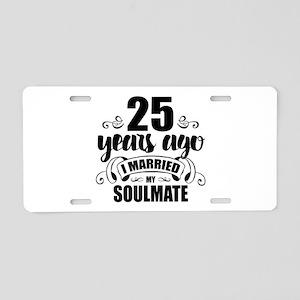 25th Anniversary Aluminum License Plate
