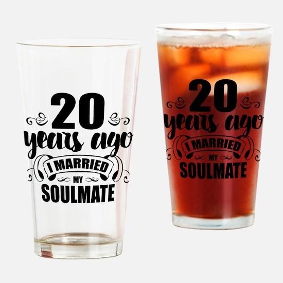 20th Anniversary Drinking Glass