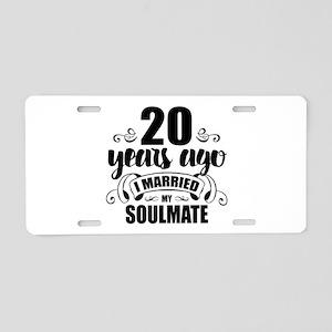 20th Anniversary Aluminum License Plate