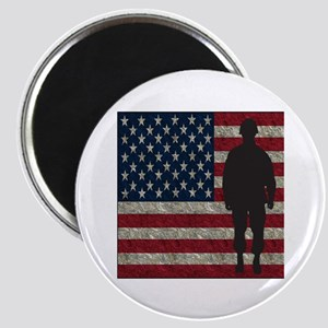 Usflag Soldier Magnets