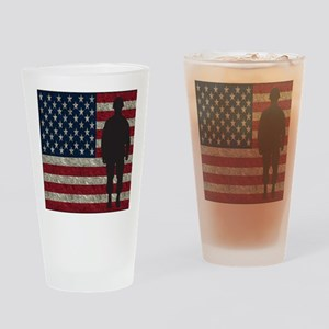 USFlag Soldier Drinking Glass