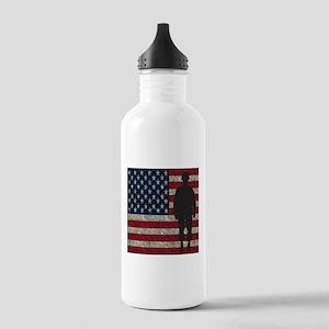 USFlag Soldier Water Bottle