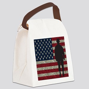 USFlag Soldier Canvas Lunch Bag