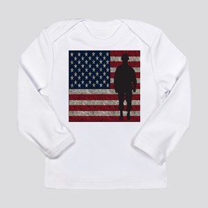 USFlag Soldier Long Sleeve T-Shirt