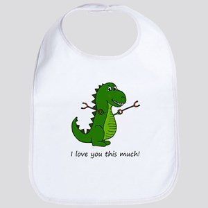 I love you this much! T-Rex Dinosaur with Baby Bib