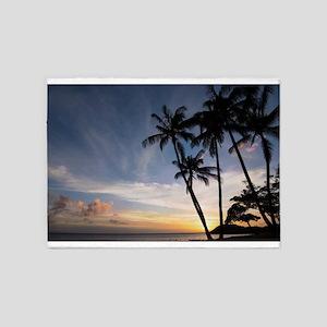 Hawaiian Sunset 5'x7'Area Rug